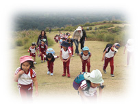 体力づくり:若草山遠足への引率