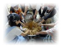 明日の命を守る会:味噌作り
