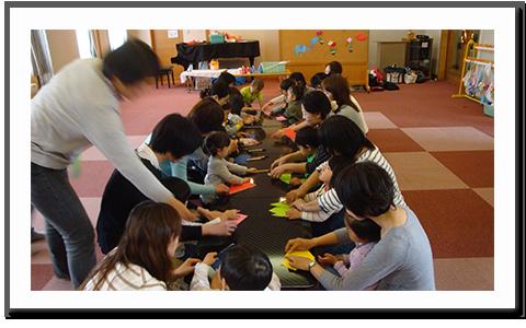 未就園児(こひつじ日記)-折り紙