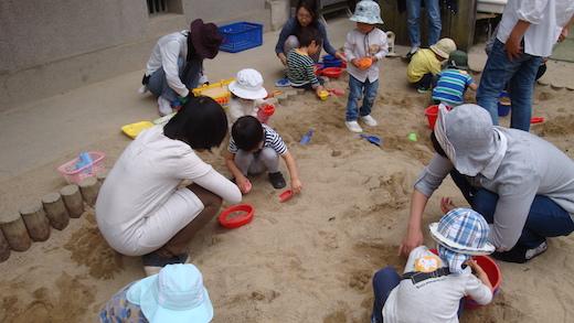 お砂場で遊ぼう